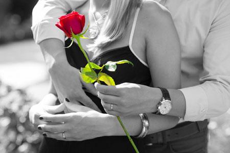 gemeinsame Stunden beim Valentinstags-Date